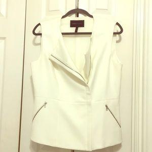 Bcbgmaxazria ivory zipper vest